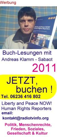 Buch-Lesungen Andreas Klamm-Sabaot